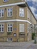 Hotel histórico em Christiansfeld em Dinamarca fotografia de stock royalty free