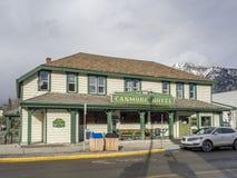 Hotel histórico de Canmore Fotografía de archivo libre de regalías