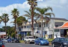 Hotel histórico en Oneroa en la isla de Waiheke, Auckland Fotos de archivo