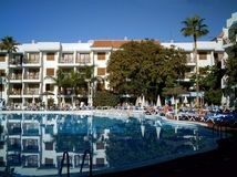 hotel hiszpański turysta Obrazy Royalty Free