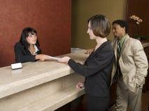 Hotel - hojas de ruta (traveler) de asunto Imágenes de archivo libres de regalías