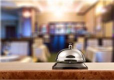Hotel. Hospitality bell motel hello staff desk Stock Images