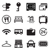 Hotel & hostel icons Royalty Free Stock Photography