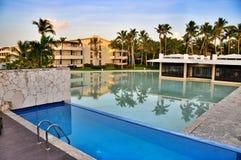 Hotel Hotel Catalonia Royal Bavaro. Pool view from the room. Punta Cana, Dominican Republic Royalty Free Stock Photos