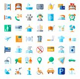 Hotel, hotel services, colored icons. Stock Images
