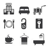 Hotel and Hotel Services Icon. Vector Hotel and Hotel Services Icon royalty free illustration