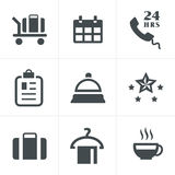 Hotel and Hotel Services Icons. Royalty Free Stock Images