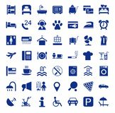 Hotel, hotel services, single-color icons. Royalty Free Stock Images