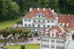 Hotel and house in Bavaria Royalty Free Stock Photography