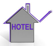 Hotel House Means Holiday  Accommodation Stock Photo