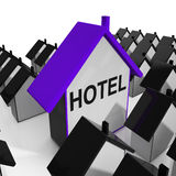 Hotel House Shows Place To Stay And Units Royalty Free Stock Photos