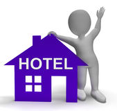 Hotel House Shows Vacation Accommodation And Rooms Stock Photography