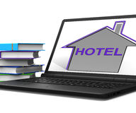 Hotel House Tablet Means Holiday  Accommodation And Vacancies Royalty Free Stock Photos