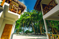 Hotel house at tropical island resort Royalty Free Stock Photography