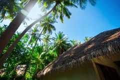 Hotel house at tropical island resort Royalty Free Stock Photo