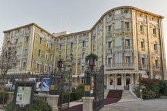 Hotel Hungaria Ausonia on Lido island. Venice, Italy. Stock Image