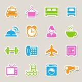 Hotel i podróży ikony set ilustracji