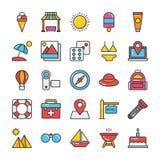 Hotel i podróży Barwione Wektorowe ikony Ustawiamy 4 ilustracja wektor