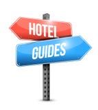 Hotel i przewdoniki podpisujemy ilustracyjnego projekt royalty ilustracja