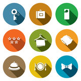 Hotel Icon Collection Royalty Free Stock Photography