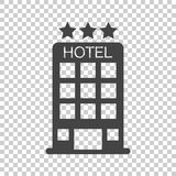 Hotel icon on isolated background. Simple flat pictogram for bus royalty free illustration