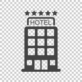Hotel icon on isolated background. Simple flat pictogram for bus. Iness, marketing, internet concept. Trendy modern vector symbol for web site design or mobile vector illustration