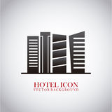 Hotel icon. Over light background vector illustration vector illustration