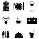 Hotel icon set Royalty Free Stock Photography
