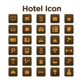 Hotel Icon Set Royalty Free Stock Photo