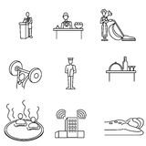 Hotel Icon Set Royalty Free Stock Image