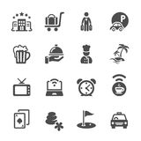 Hotel icon set 2, vector eps10 Royalty Free Stock Photo
