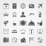Hotel icon set Stock Images