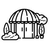 Hotel icon vector royalty free illustration