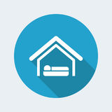 Hotel icon. Vector illustration of single isolated hotel icon stock illustration
