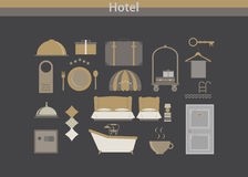Hotel icon vector luxury Royalty Free Stock Photography