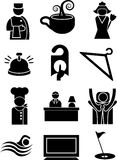 Hotel Icons. A set of hotel icons Royalty Free Stock Photo