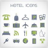 Hotel icons. Vector set of hotel and traveling icons Royalty Free Stock Photography