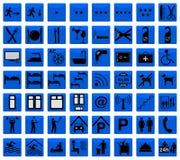 Hotel icons Royalty Free Stock Photos