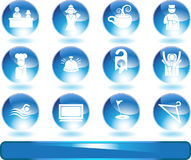 Hotel Icons Stock Image