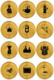 Hotel Icons. A set of hotel icons Royalty Free Stock Photos