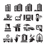 Hotel icons. Authors illustration in vector Royalty Free Stock Photography