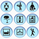 Hotel icons collection Royalty Free Stock Image