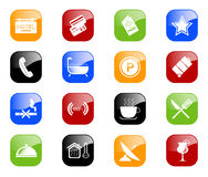 Hotel icons - color series Stock Photography
