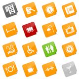 Hotel icons II - sticky series Royalty Free Stock Photography