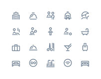 Hotel icons. Line series Stock Photography