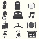 Hotel icons Stock Photos