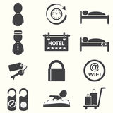 Hotel icons. Hotel service icons, vector illustration Royalty Free Stock Photo