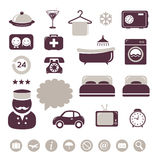 Hotel icons set Royalty Free Stock Image
