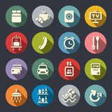 Hotel icons set.  Royalty Free Stock Photography