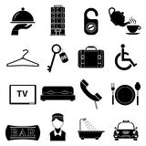 Hotel icons set Royalty Free Stock Images